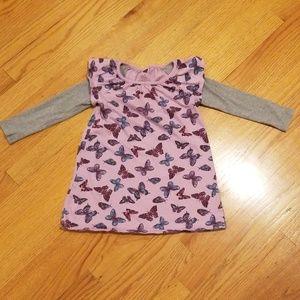Tea Collection Purple Butterfly Dress